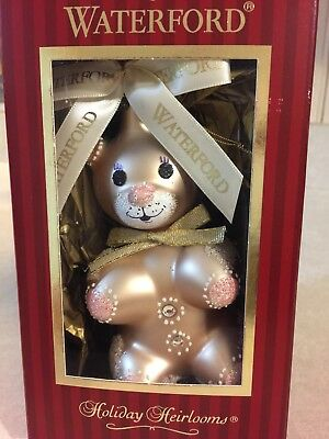 Waterford Holiday Heirlooms Gingerbread Teddy Ornament New in Box with tags