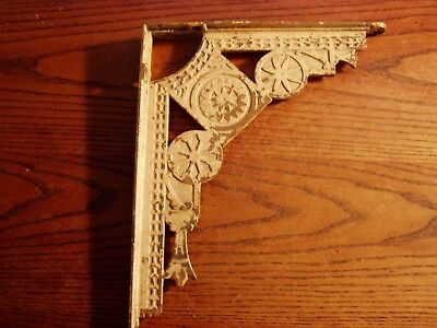 Ornate  Antique  Charming Victorian Cast Iron  Shelf Bracket REAL