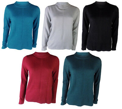 Marks & Spencer Womens Ladies Soft Fine Knit Round Funnel Neck M&S Jumper Top