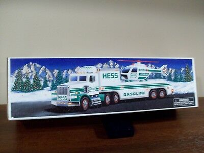 1994 Hess Truck With Helicopter New Old Stock Toys Never Played With, In The Box
