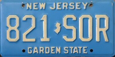 "USA Number Licence Plate NEW JERSEY ""GARDEN STATE""  80's ERA"