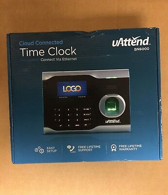 New uAttend BN6000 Ethernet Biometric Fingerprint Time Clock