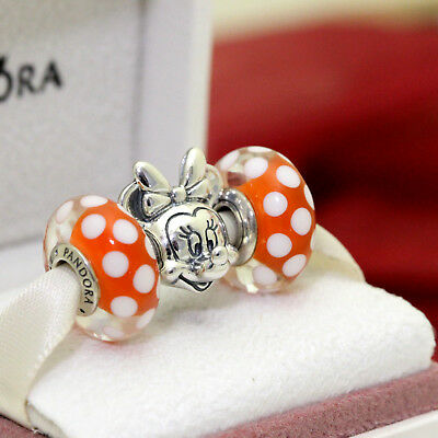 * Authentic Pandora Disney Minnie Portrait 791587, Signature Look Murano 791635