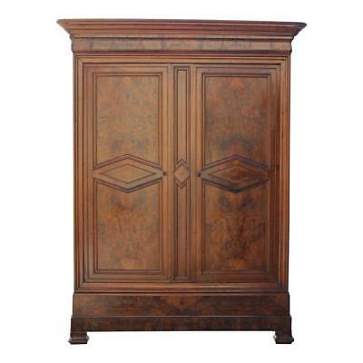 19th Century French Louis Philippe Armoire Period Chateau Circa 1850s  AS IS.