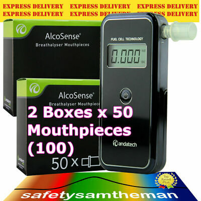 ANDATECH AlcoSense STEALTH AL-9000 BREATHALYSER + 2 Boxes x50 MOUTHPIECES