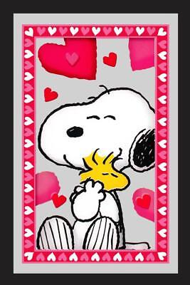 Peanuts Hearts mirror Snoopy hugs Woodstock
