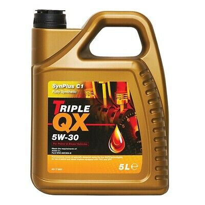 Car Motor Engine Oil Triple QX SynPlus Fully Synthetic SAE 5W30 C1 5L Litre