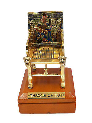 **Rare** King Tut Throne Statue Replica, Fine Ancient Egyptian Statues