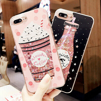 Dynamic Liquid Glitter Quicksand Bling Hard Case Cover For iPhone XS XR 8 7 6S