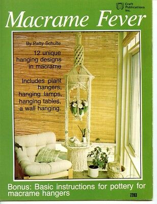 Macrame Fever - 1977 - Plant hangers, hanging lamps, tables and a wall hanging