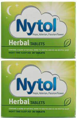 60 x Nytol Herbal Tablets - Natural Sleeping Insomnia Remedy Aid FREEPOST