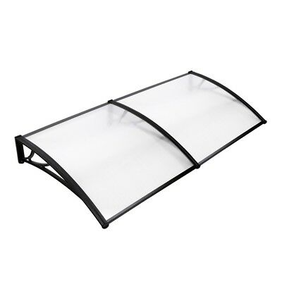 1x2M Window Door Awning Canopy Patio UV Rain Outdoor Cover Sun Shield White #LB