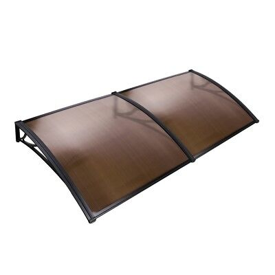1x2M Window Door Awning Canopy Patio UV Rain Outdoor Cover Sun Shield Brown #CB