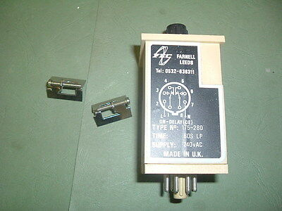Farnell 175 280.... Timer On Delay............ 2-60S 240 Vac Supply.new Packaged
