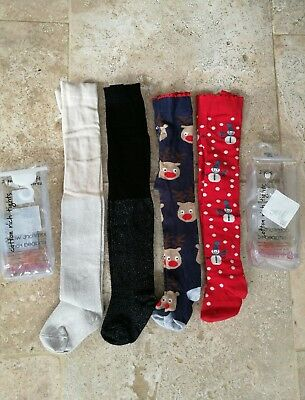 NEXT new in pack Christmas set of 4 tights 0-6 months