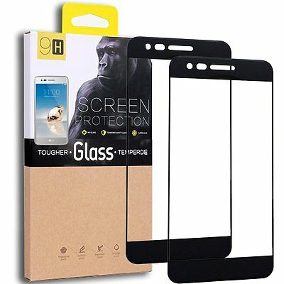 LG Aristo /LG K8 2017/LGLV3 Tempered Glass Screen Protector 2-Pack  Black/Clear