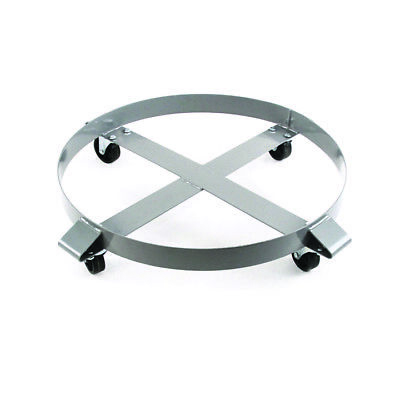 Drum Dolly 1000 lb 55 Gal w Swivel Casters Heavy Duty Steel Frame Non Tipping x1
