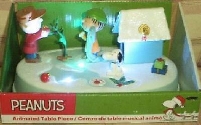 Peanuts Charlie Brown Skating Rink Pond Christmas Motion Music Lights New