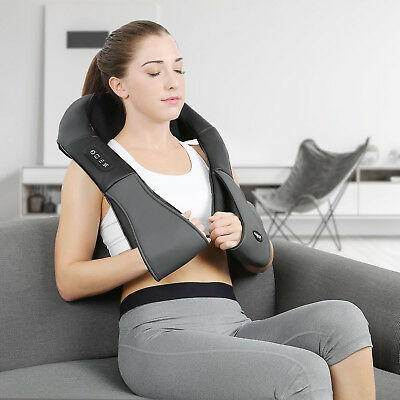 Naipo Neck Shoulder Massager with Deep Shiatsu Kneading Massage Heat Function