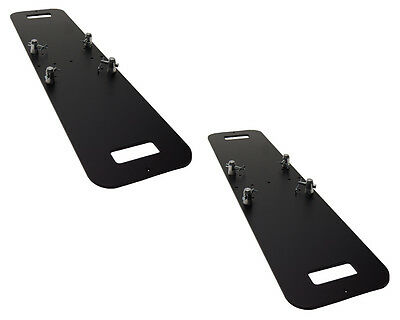 Pair of 12 X 48 Black Steel Base Plate Fits Global Truss F33 F34 SQ and others