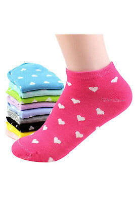 5 Pairs Womens Girls Ankle Low Cut Socks Casual - Random Color V5V5