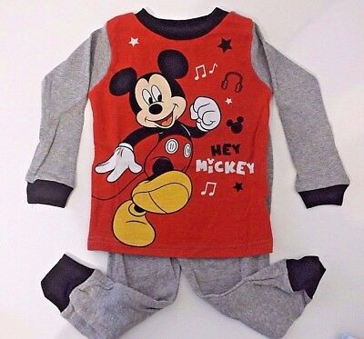 New Disney Mickey Mouse Toddler boys pajamas 18M 2t 3t 4t 5t