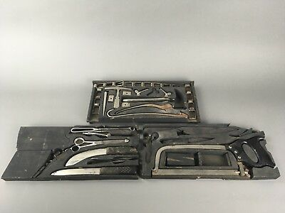Antique 19th c. Civil War Era Mortician's Undertaker Surgical Tools Set