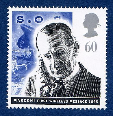 GB Guglielmo Marconi and Sinking of Titanic Liner Illustrated on a Stamp U/M 13