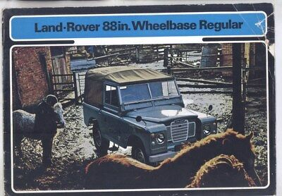 1972 Land Rover 88 Regular Brochure wy8527