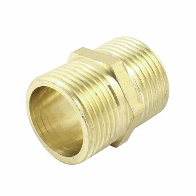 """Brass 3/4"""" PT to 3/4"""" PT Male Thread Hex Nipple Piping Quick Coupler S4R8"""