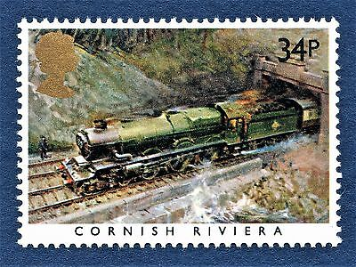 GB Cornish Riviera / GWR / on a Stamp - U/M 13
