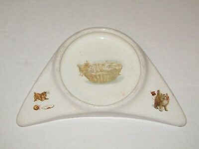Antique Vintage Victorian T.a.m. Nicol Cat Kitten Child's Baby Plate Bowl Dish