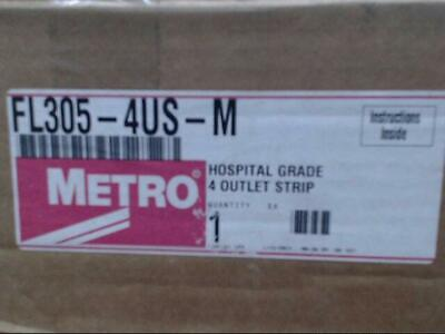 Metro FL305-4US-M Hospital Grade 4 Outlet Strip *Brand New & Free Shipping*
