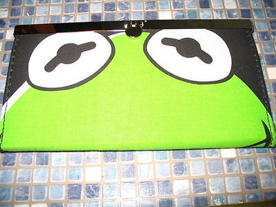 Disney Store Kermit The Frog The Muppets Long Purse Brand New Very Rare