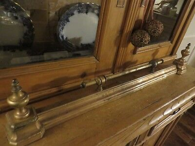 SUPER ANTIQUE FRENCH EXTENDING BRASS FENDER 1920's  ~  PERIOD OR COUNTRY HOME