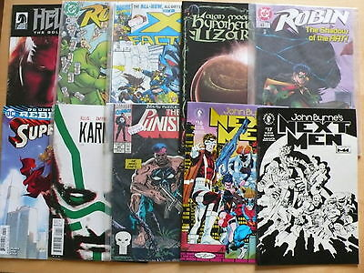 20 Modern Age Comics as pictured DC Marvel etc  Free UK P&P