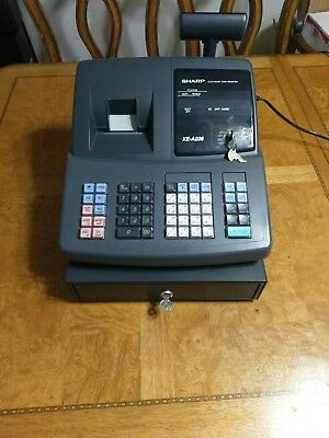 sharp xe a206 electronic cash register w keys and manual 102 50 rh picclick com Operators Manual Sharp XE A206 Programming
