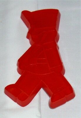 "Hallmark Christmas Imprint Cookie Cutter Red Soldier 1983 4-1/2"" x 2-3/4"" Used"