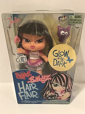 "Bratz Babyz Hair Flair Jade 5"" Doll Glow In The Dark New In Package~Hard to Find"