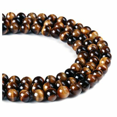 1Strand Tiger Eyes Semi-precious Gemstone Beads 6mm U6M1