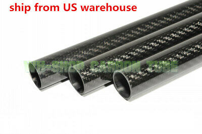 OD 40mm X ID 38mm 3K Roll Wrapped Carbon Fiber Tubes parts for RC Model 40*38 H