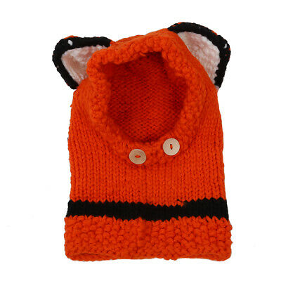 Toddler Girls Boys Baby Winter Beanie Warm Hat Hooded Scarf Earflap Knitted P8B2