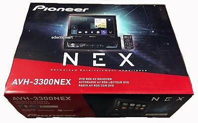 "Pioneer AVH-3300NEX 7"" Flip-Out DVD/Bluetooth, Apple Car Play, Android Auto"