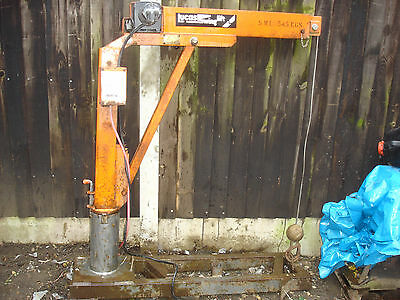 Lucas Swinglift hoist for transit hiab or fit to  ifor williams trailer