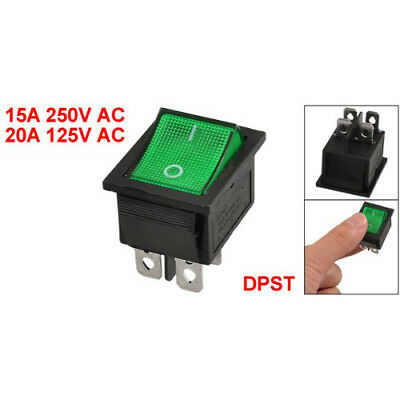 New KCD4 DPST ON-OFF 4 Pin Terminals Rocker Boat Switch 15A/20A AC 250V/125 P5O1
