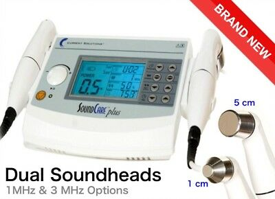 SoundCare Plus Professional Ultrasound Therapy 1 & 3MHz - Dual Heads 1cm and 5cm