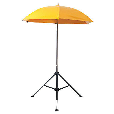Heavy Duty Umbrella,  6 1/2 Ft H, Yellow, Vinyl