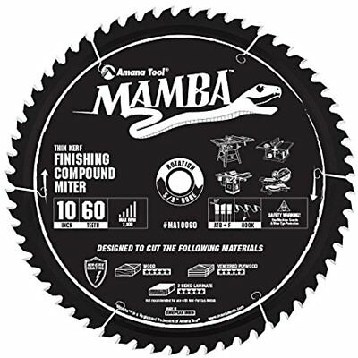 Spiral Tool MA10060 Carbide Tipped Thin Kerf Finishing Compound Miter Mamba Inch