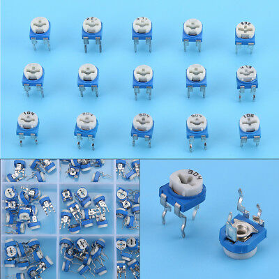 150Pcs 100ohm-1Mohm Vertical PCB Preset Variable Resistor Trimmer Potentiometer