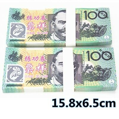100PCS 100 AUD Play Money Training Banknotes Practice Fake Bills Joke Movie Prop